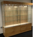 Wooden display showcase