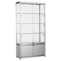 Satin Silver Display Cabinet